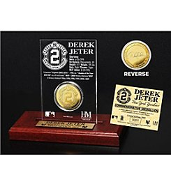 Derek Jeter Gold Coin Etched Acrylic by Highland Mint