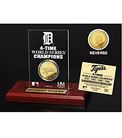 Detroit Tigers Gold Mint Coin Acrylic Desktop Display by Highland Mint