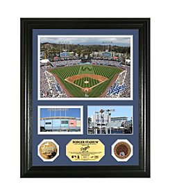 Dodger Stadium Infield Dirt Coin Showcase Photo Mint by Highland Mint