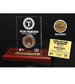 Globe Life Park Dirt Coin Etched Acrylic by Highland Mint