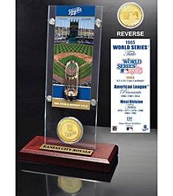 Kansas City Royals World Series Ticket & Bronze Coin Acrylic Desktop by Highland Mint