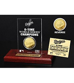 Los Angeles Dodgers Gold Mint Coin Acrylic Desktop Display by Highland Mint
