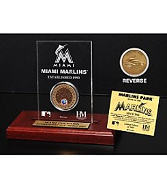 Marlins Park Infield Dirt Coin Etched Acrylic by Highland Mint