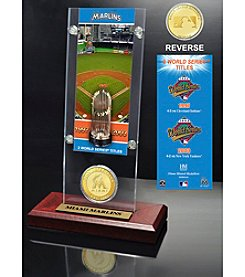 MLB® Miami Marlins World Series Ticket & Bronze Coin Desktop Acrylic