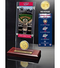 MLB® Minnesota Twins World Series Ticket & Bronze Coin Desktop Acrylic