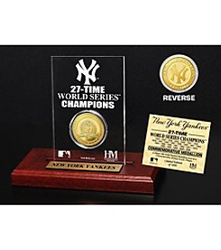 New York Yankees Gold Mint Coin Acrylic Desktop Display by Highland Mint