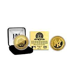 New York Yankees 27-time World Series Champions Gold Coin by Highland Mint