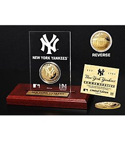 New York Yankees Gold Coin Etched Acrylic by Highland Mint
