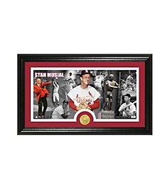 Stan Musial Bronze Coin Panoramic Photo Mint by Highland Mint