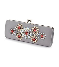 La Regale® Satin Embellished Clutch