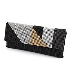 La Regale® Mesh Colorblock Clutch