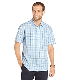 Van Heusen® Men's Short Sleeve Ombre Plaid Traveler Woven