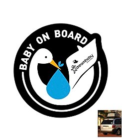 Dreambaby® 2-Pack Adhesive Baby on Board Stork Decal