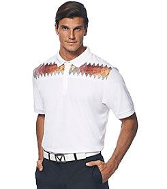 Callaway® Men's Short Sleeve Argyle Print Polo