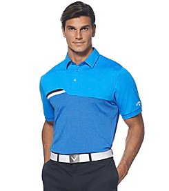 Callaway® Men's Short Sleeve Striped Color Block Polo