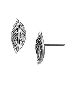The Sak® Silvertone Metal Leaf Stud Earrings