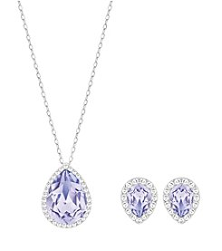 Swarovski® Silvertone Christie Necklace And Earrings Set