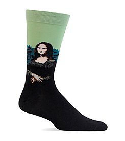 Hot Sox® Men's Mona Lisa Crew Socks