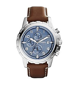 Fossil® Men's Silvertone Dean Watch