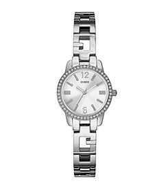 GUESS Women's Silvertone Gleaming Iconic Classic Watch
