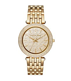 Michael Kors® Goldtone Monogram Logo Darci Watch
