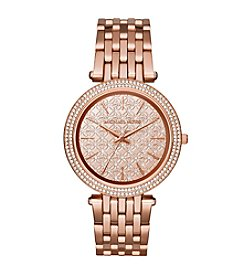 Michael Kors® Rose Goldtone Monogram Logo Darci Watch
