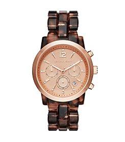 Michael Kors® Women's Rose Goldtone Blush Tortoise Audrina Watch