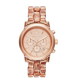 Michael Kors® Rose Goldtone & Blush Lucite Audrina Watch
