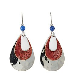 Silver Forest® Silvertone Americana Three Teardrop Earrings