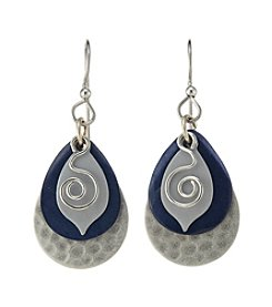 Silver Forest® Silvertone Layered Tears And Coil Earrings