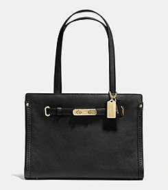 COACH SWAGGER SMALL TOTE IN POLISHED PEBBLE LEATHER