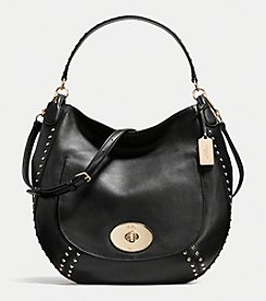 COACH CIRCLE HOBO IN STUDDED CALF LEATHER