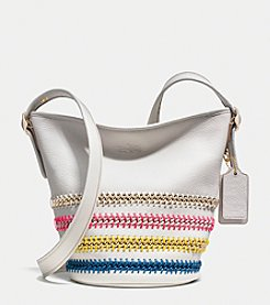 COACH MINI DUFFLE IN POP LACING WHIPLASH LEATHER