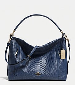 COACH SCOUT HOBO IN PYTHON EMBOSSED LEATHER