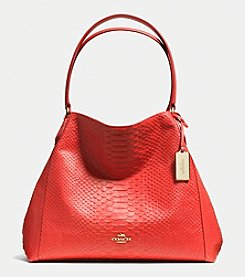 COACH EDIE SHOULDER BAG IN PYTHON EMBOSSED LEATHER