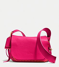 COACH DAKOTAH FLAP CROSSBODY 21 IN POP LACING WHIPLASH LEATHER