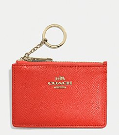 COACH MINI SKINNY ID CASE IN EMBOSSED TEXTURED LEATHER