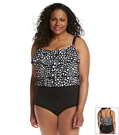Studio Works® Plus Size 3 Tier Dot Print Tank