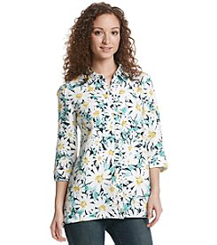 Jones New York Sport® Floral Linen Shirt