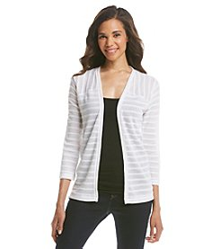 Jones New York Signature® Textured Open Front Cardigan