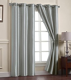 Victoria Classics Preston Faux Silk Lined Window Curtain