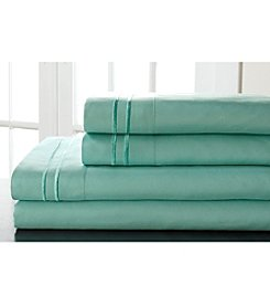 Elite Home Products Hotel Double Merrow Microfiber Sheet Set