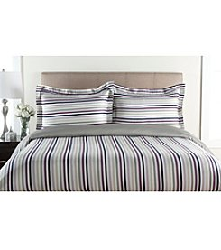 Elite Home Products 300-Thread Count Hyde Park 3-pc. Duvet Set