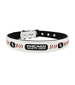 MLB® Chicago White Sox Classic Leather Baseball Pet Collar