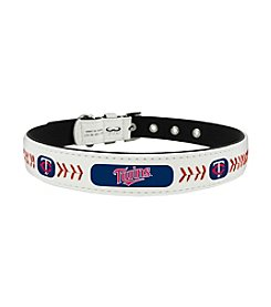 MLB® Minnesota Twins Classic Leather Baseball Pet Collar