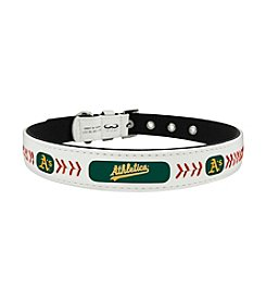 MLB® Oakland Athletics Classic Leather Baseball Pet Collar
