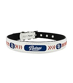 MLB® San Diego Padres Classic Leather Baseball Pet Collar