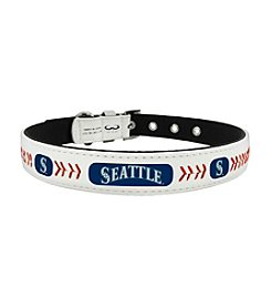 MLB® Seattle Mariners Classic Leather Baseball Pet Collar