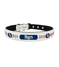 MLB® Tampa Bay Rays Classic Leather Baseball Pet Collar