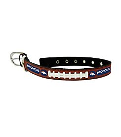 Denver Broncos GameWear™ Classic Leather Football Pet Collar